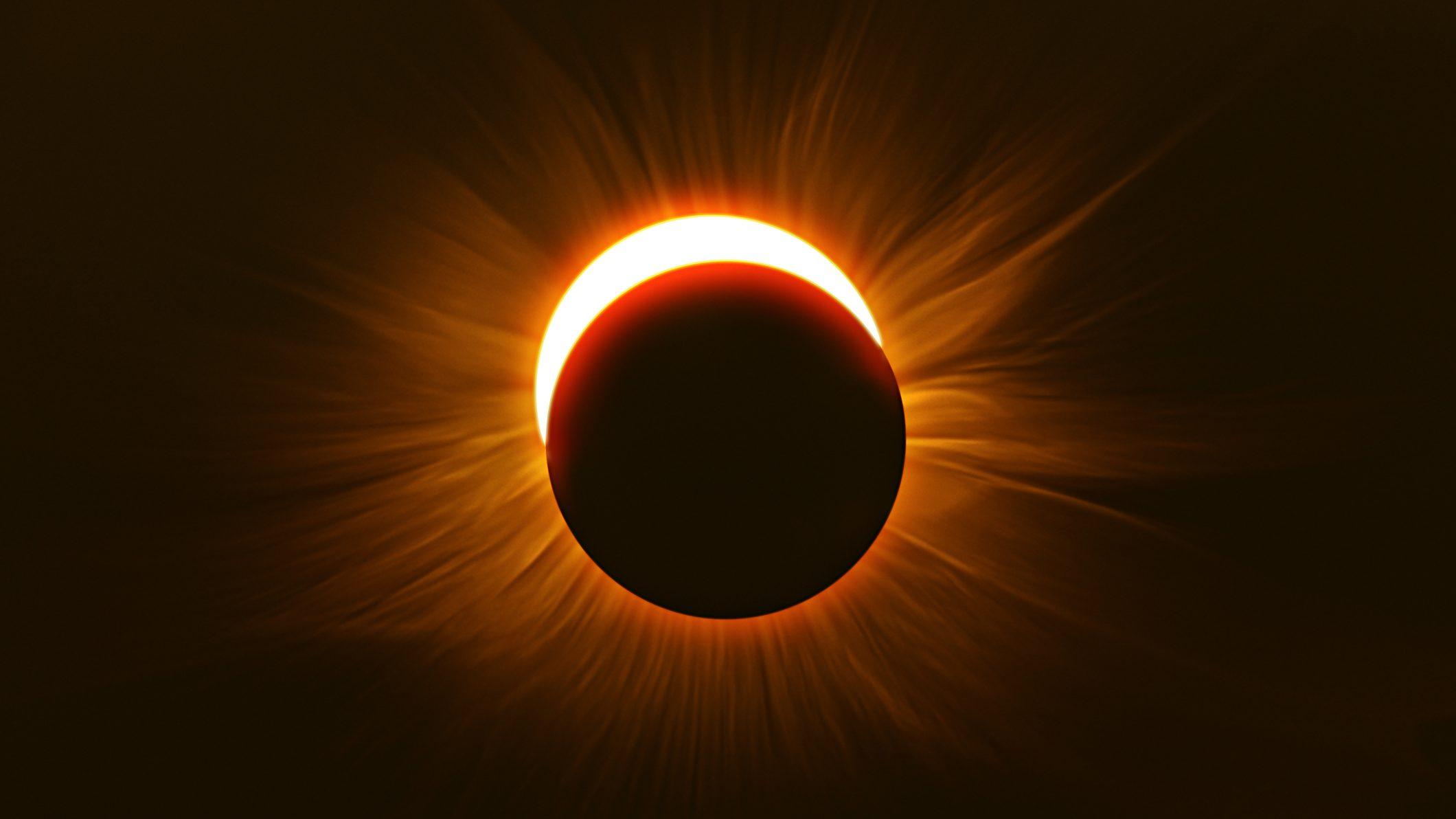 Eclipse provides unique solar image