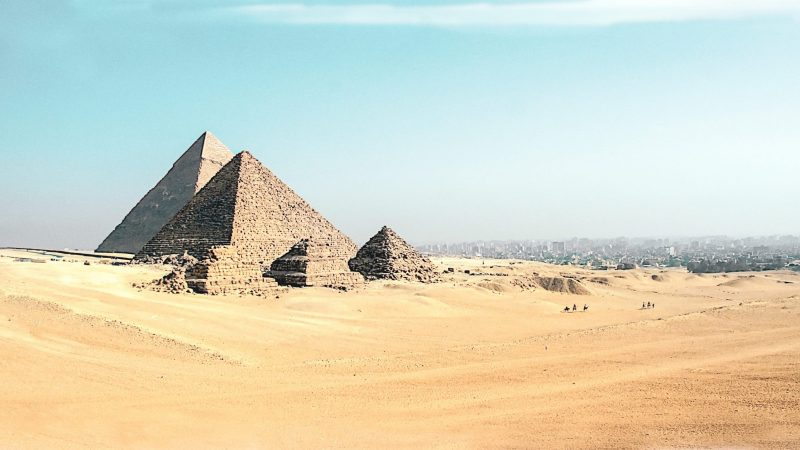 Pyramids on Giza Plateau, Egypt