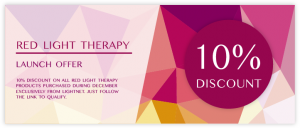 10% Voucher Red Light Therapy