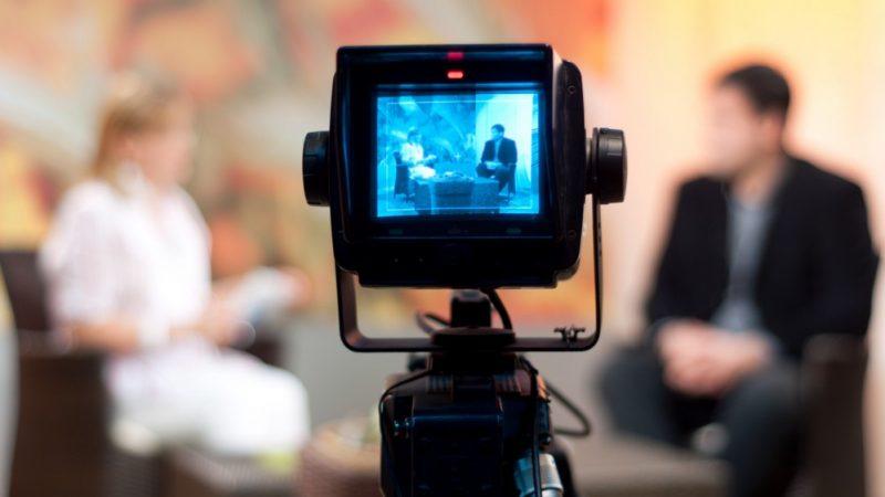 Camera captures TV Presenters in Action