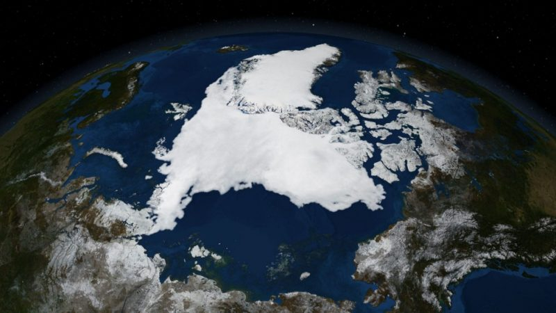 Polar Ice Cap from Space